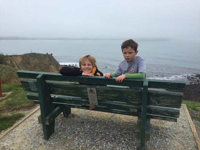 Daniel and Gemma enjoying the foggy view