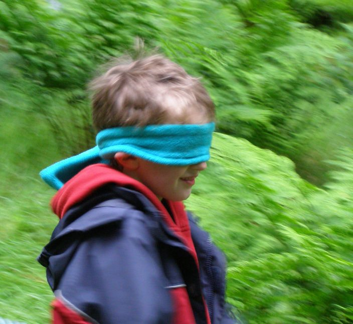 Sensation and blindfold walk