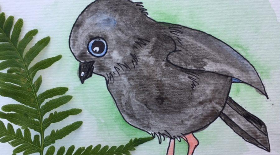 A robin encounter on the un-nature trail!
