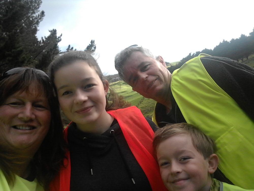 Kim, Jessica, Sam and Kevin in their hi-vis