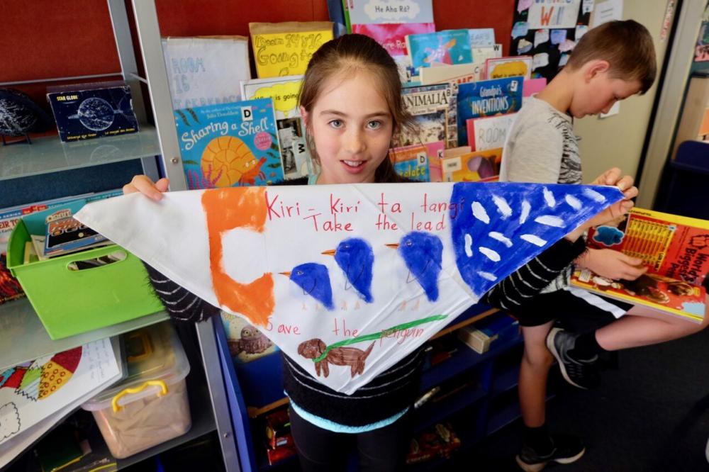 A Seatoun community focused bandana. Photo by Paul Stanley-Ward.
