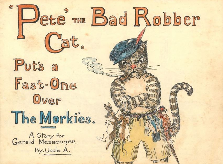 STORY: Pete' the Bad Robber Cat Pulls a Fast-One over The Morkies